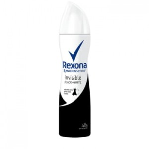 Antyperspirant Rexona spray Invisible Black+White Rexona 150ml
